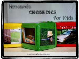 Homemade Chore Dice for Kids