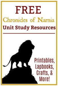 Are you reading any of the Narnia books rightnow? Extend your learnign with this Free Chronicles of Narnia Resource Unit! You'll find printables, lapbooks, crafts, and much more!