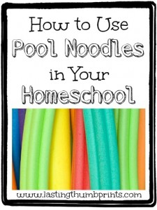 pool noodle learning games crafts