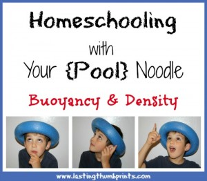 Homeschooling With Your Noodle: Bouyancy & Density