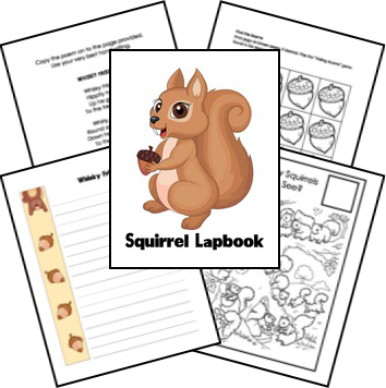 free squirrel lapbook