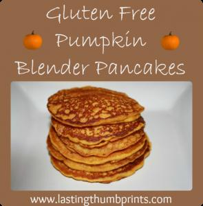 Gluten Free Pumpkin Blender Pancakes