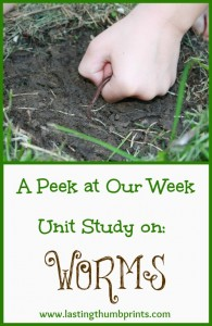 Worm Unit Study – A Peek At Our Week