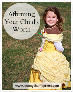 Affirming Your Child's Worth
