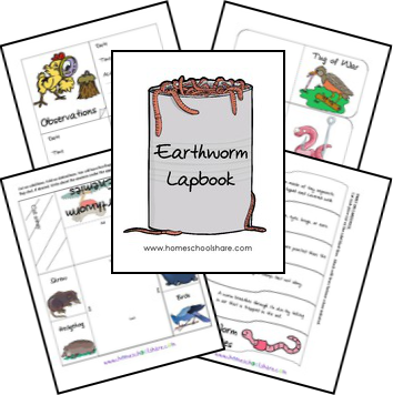 free worm lapbook