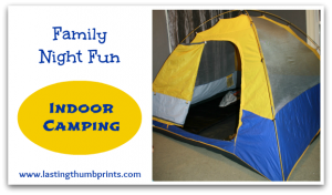 Family Night Fun: Indoor Camping
