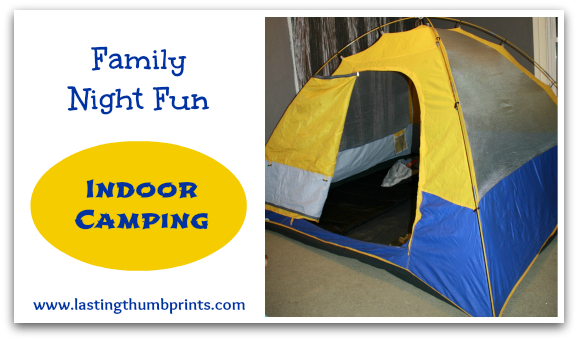 family fun indoor camping