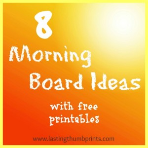morning board printables