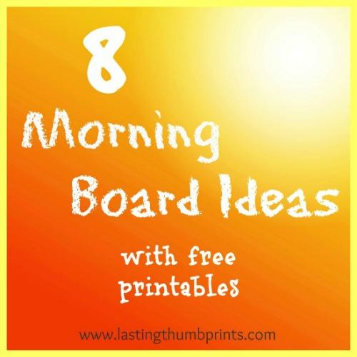 morning board printables