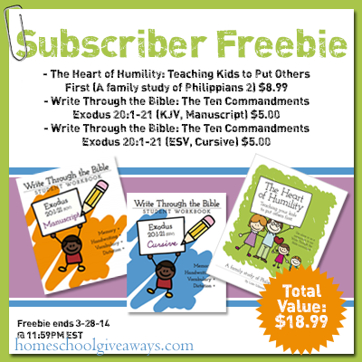 Write through the bible freebie - limited time