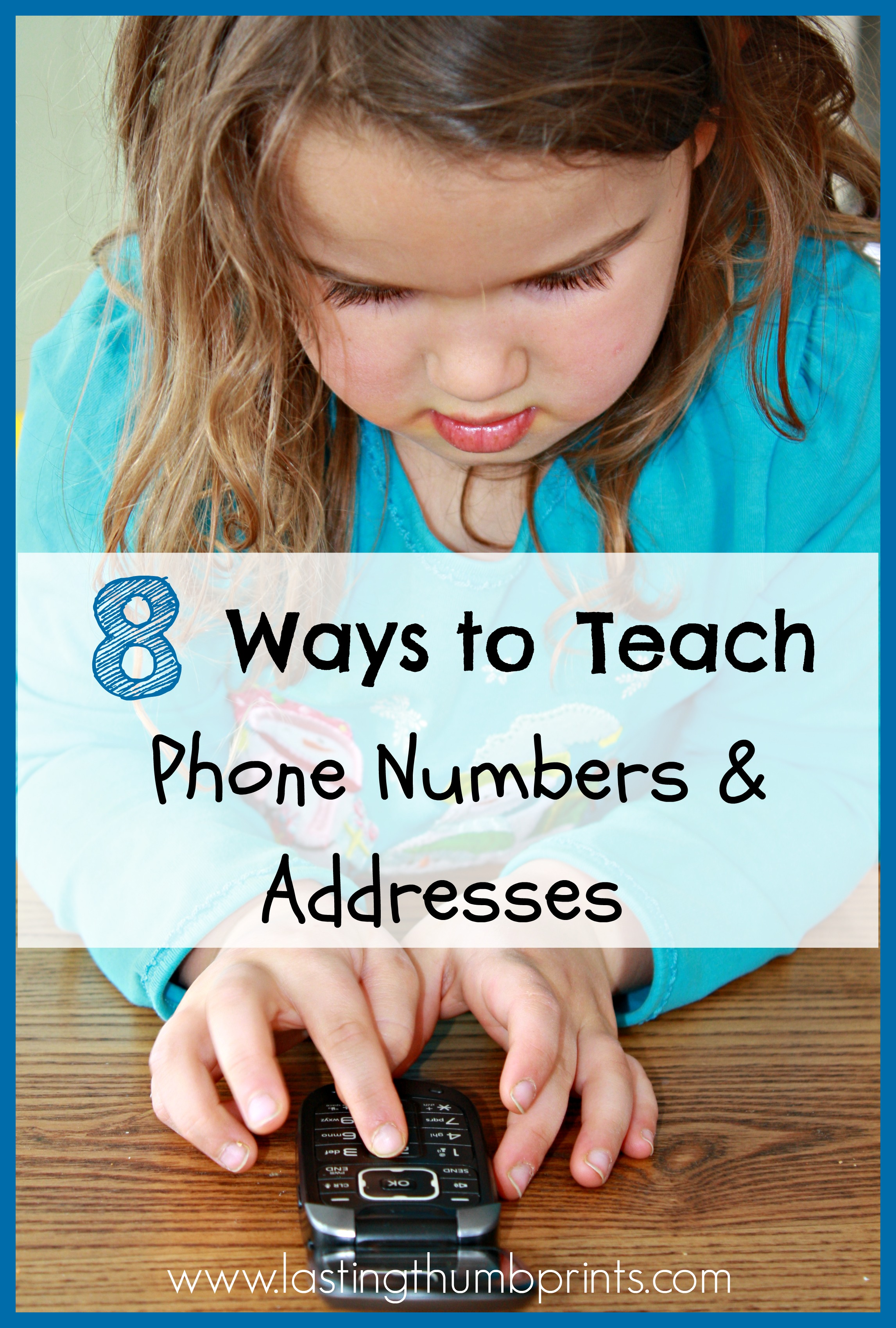 Ways To Teach Children Their Address And Phone Number