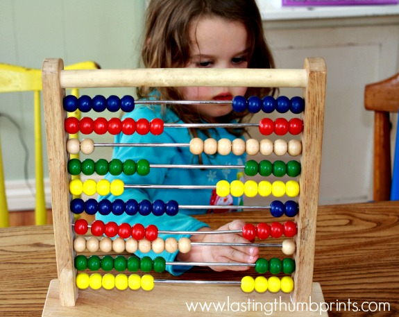use manipulatives to learn an address or phone number