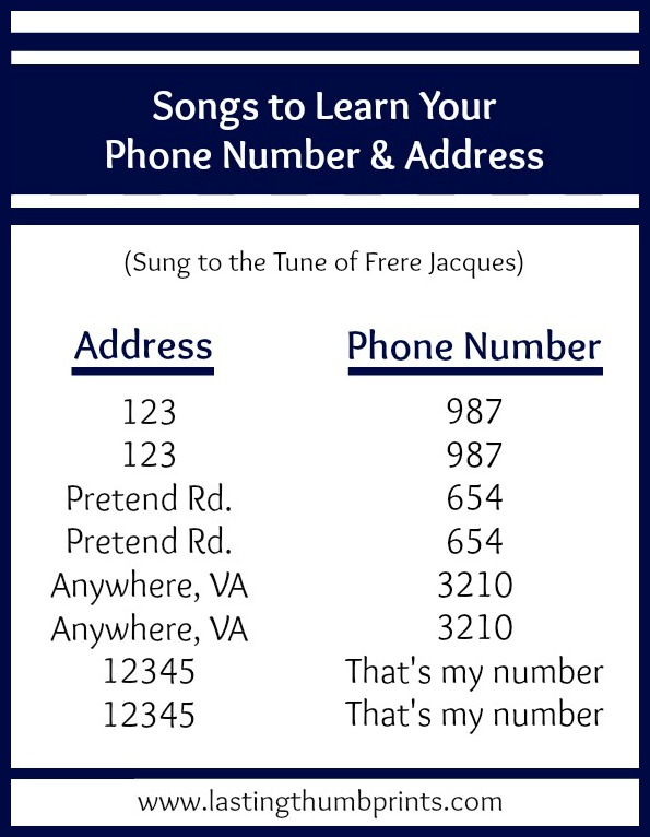 8 ways to teach children their address and phone number