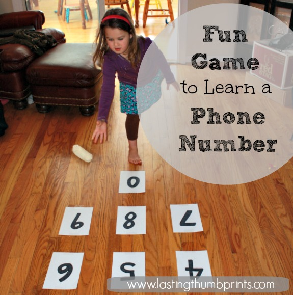 Play this fun game to help your child learn their phone number