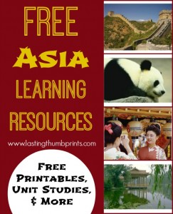 Free Asia Learning Resources - Printables, Unit Studies & More