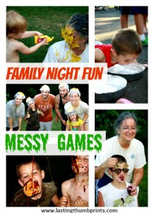 Family Fun - Messy Games! Loads of ideas to create memories with a family messy party. Getting dirty has never been so fun!