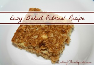 Easy Baked Oatmeal Recipe