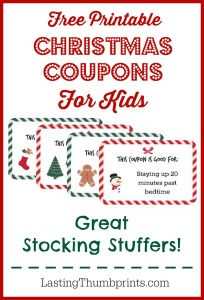 Christmas Coupons for Kids – Free Printable!