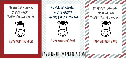 Free Printable Valentine's Day Card sto Thank Others