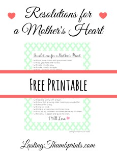 Free Resolutions For A Mother's Heart Printable
