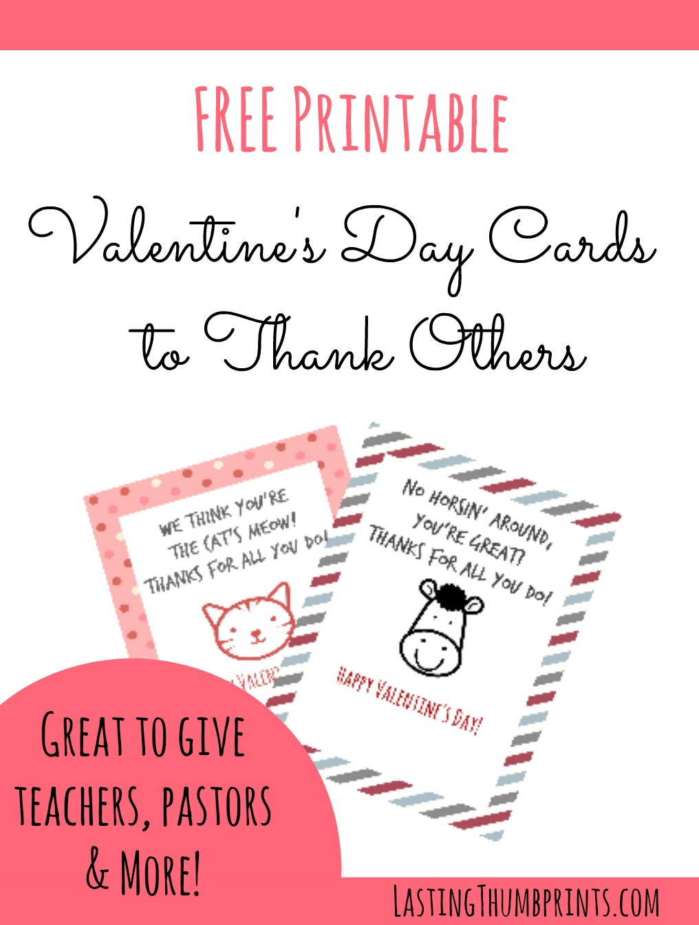Free Valentines Day Cards to Thank Others – Free Valentine Printable Cards