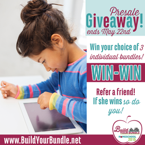 Awesome Build Your Bundle Homeschool Giveaway + Pre-Sale Coupon Code!