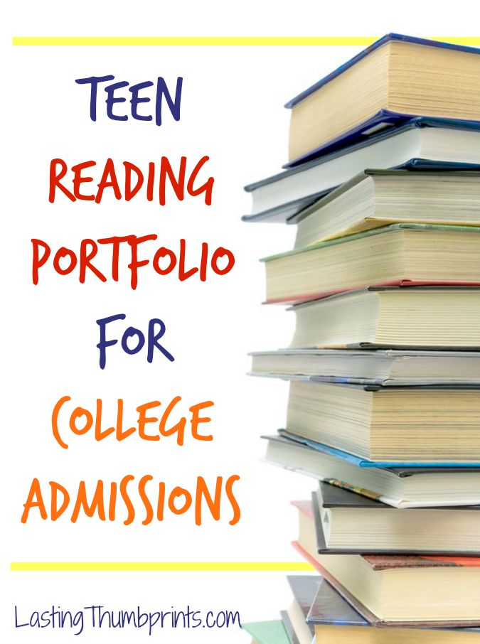 Teen Reading Portfolio for College Admissions