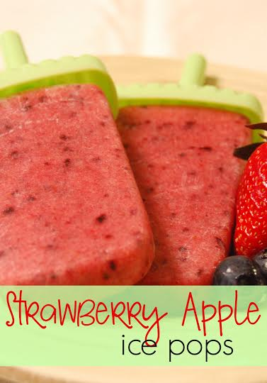 Yummy Strawberry Apple Ice Pops - All Natural Recipe!