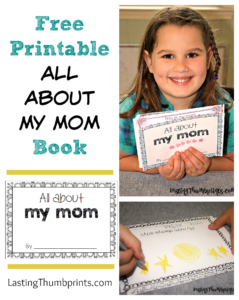 All About My Mom Book – Free Printable