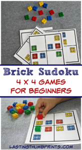 Brick Sudoku for Kids – 4×4 Beginner Games