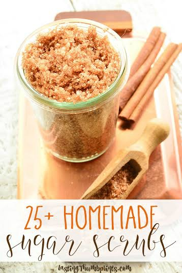 Making your own sugar scrubs is an easy and frugal projects. Plus, homemade sugar scrubs make an easy gift that kids can help with! This list has over 25 DIY sugar scrub recipes that are sure to please!