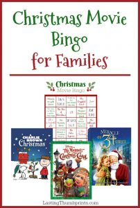 Christmas Movie Bingo for Families