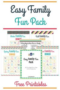 Easy Family Fun Pack – Activities for the Whole Year!