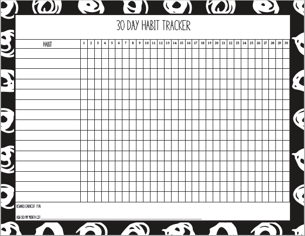 Need help habit training? Help develop good habits with this free habit tracker printable.