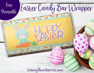 Use this free printable Easter King Size Candy Bar Wrapper to turn any king size candy bar into an easy and cheap Easter treat!