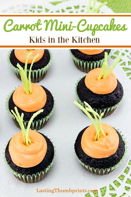 These cute carrot cupcakes are easy to make and will be the hit of your celebration! And they're perfect to have the kids help!