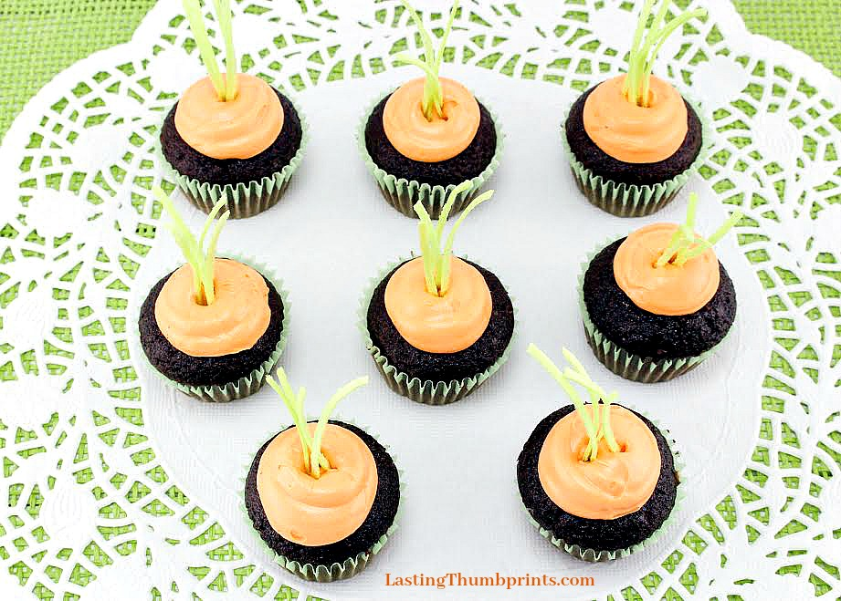 Hidden carrot cupcakes