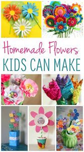 These cute homemade flowers are perfect for kids to make as gifts!