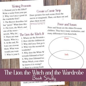The Lion, the Witch, and the Wardobe Book Study - Free Printables!