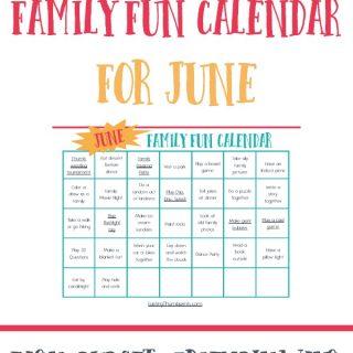 June Family Fun Calendar - Free Printable