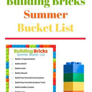 Summer Building Bricks Challenges - Free Printable