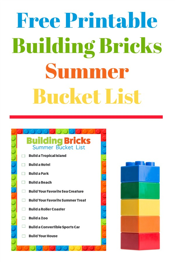 Summer Building Bricks Challenges - Free Printable