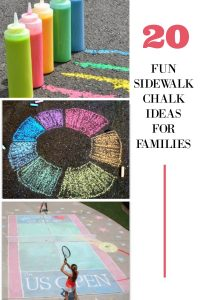 Frugal family fun! Check out these ideas to have fun using sidewalk chalk with your family!