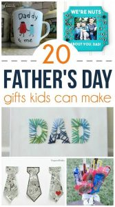 Looking for the perfect gift for your child to give to the improtant men in their life? Check out these 20 Father's Day Gifts Kids Can Make!