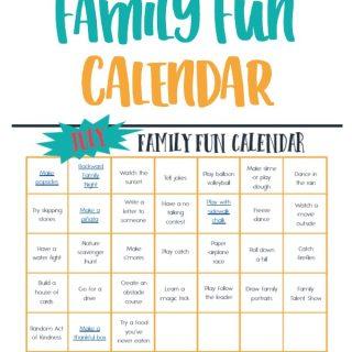 July Family Fun Calendar