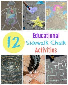 12 Educational Sidewalk Chalk Activities