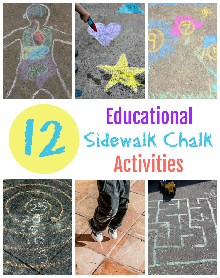 12 Educational Sidewalk Chalk Activities