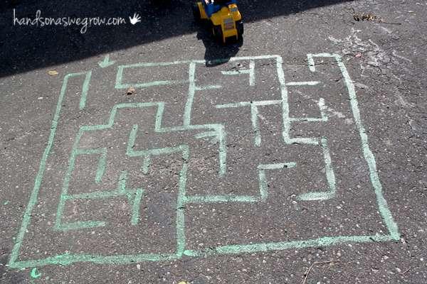 Sidewalk Chalk Maze
