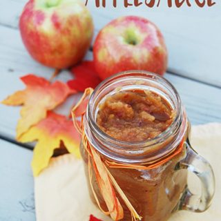 Quick & Easy Homemade Applesauce - So Easy You'll Feel Like You're Cheating!