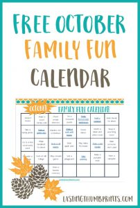 October Family Fun Calendar – Free Printable!